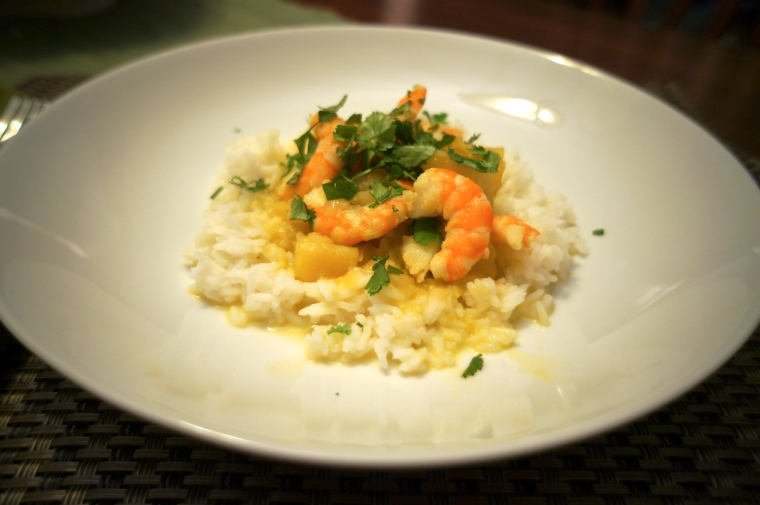 Coconut Curry with Shrimp and Sweet Potatoes