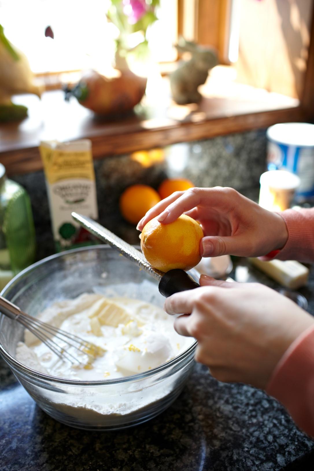 Zesting the Meyer Lemons