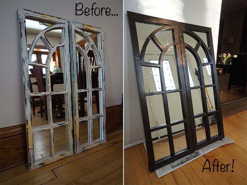 Mirror before and after