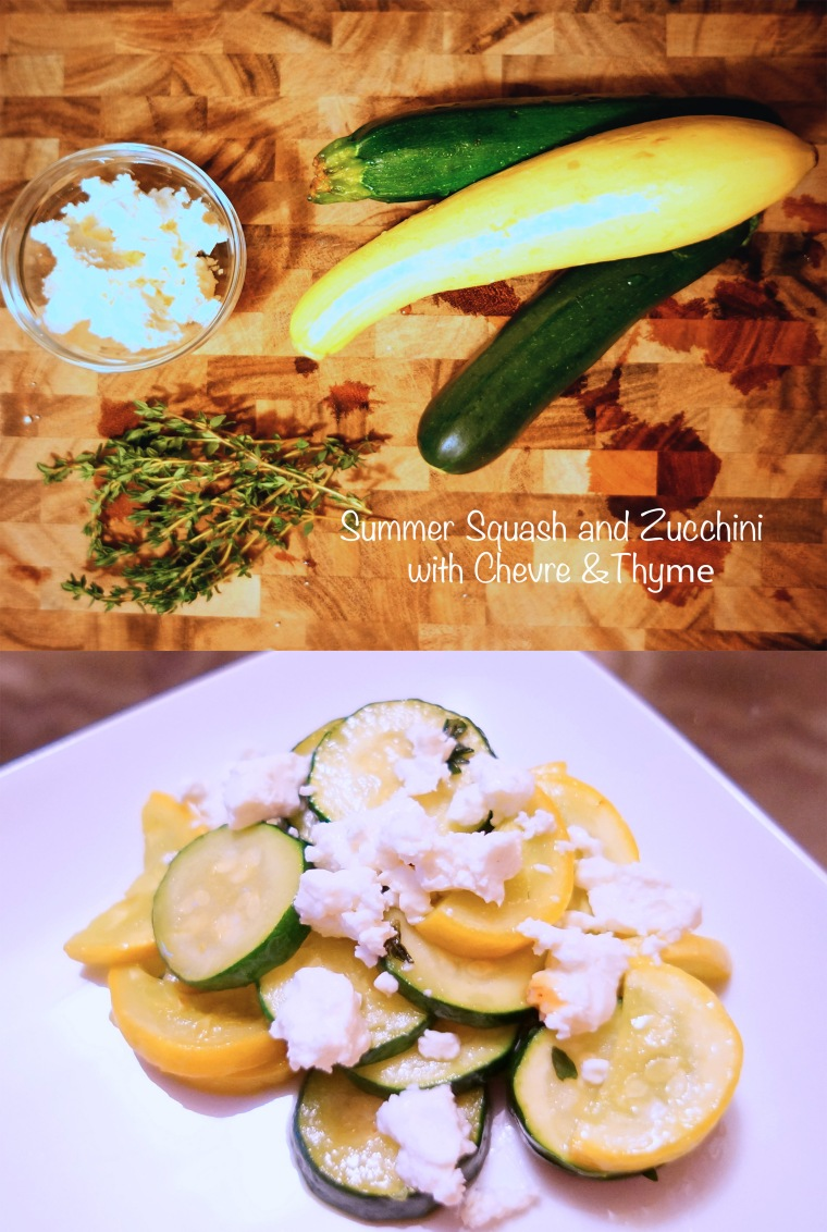 zucchini and squash with chevre