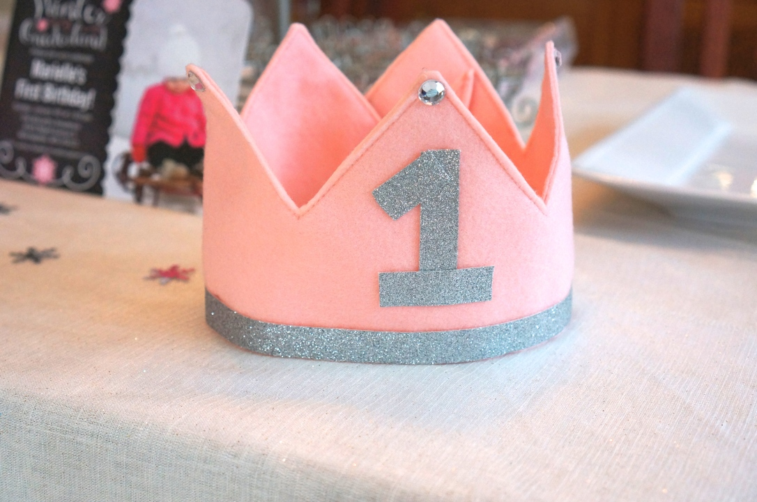 Handmade crown from Meme, decorated by Mama.